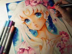 Sailor Moon: Princess Serenity by Naschi.deviantart.com on @DeviantArt