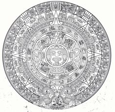 Here's a transparent Aztec Calendar because we all could use one on our pages Aquí ay une calendario Azteca para sus paginas! Aztec Tattoo Designs, Aztec Designs, Aztec Society, Arte Latina, Aztec Symbols, Aztec Empire, Aztec Culture, Aztec Calendar, Tree Of Life