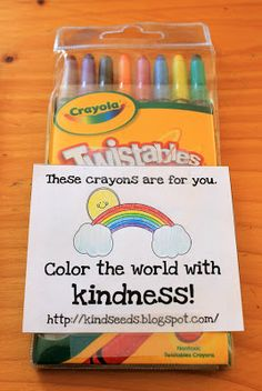 Kindness Seeds: Day 144: Color the World With Kindness