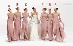 Wholesale Bridesmaid Dress - Buy  - 2013 Blush Column Chiffon Bridesmaid Dress Mixed Styles For One Wedding Party BY137, $79.16   DHgate Wedding Dress Chiffon, Wedding Party Dresses, Party Gowns, Chiffon Dresses, Prom Party, Blush Dresses, Chiffon Ruffle, White Chiffon, Chiffon Gown