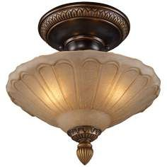 "MASTER CLOSET - $100 Restoration Collection 12"" Wide Golden Bronze Ceiling Light"