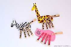 Mix & Match foam animals: fine motor busy bag idea for kids from And Next Comes L Zoo Activities Preschool, Music Activities For Kids, Autism Activities, Motor Activities, Autism Resources, Mix Match, Dear Zoo, Gross Motor Skills, Busy Bags