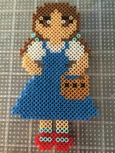 Dorothy from wizard of Oz perler bead