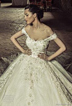 julia kontogruni 2017 bridal off the shoulders scoop neckline full embellishment princess ball gown wedding dress corset strap back royal train (2) zv