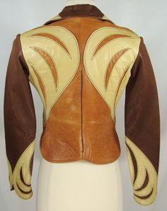 RARE Vintage 60s 70s East West Musical Instruments Leather Parrot Jacket Sz XS S | eBay