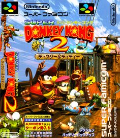 Donkey Kong Country 2: Diddy's Kong Quest/Super Donkey Kong 2: Dixie & Diddy, Super Nintendo/Famicom, Nintendo (developed by Rare), 1995.