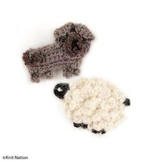 Make a tiny crochet mascot to take with you to Knit Nation this year! Get the pattern for free from The Knitting Institute free patterns