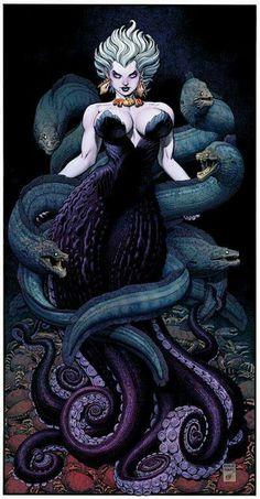 Sea witch by Arthur Adams La bruja Del Mar Ursula Comic Book Artists, Comic Books Art, Comic Art, Sea Witch, Witch Art, Disney Kunst, Disney Art, Dark Fantasy, Fantasy Art