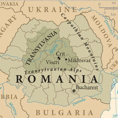 Map of Romania with Transylvania Region highlighted. Romania Tourism, Romania Map, Transylvania Romania, Bucharest Romania, Future Travel, Eastern Europe, Plan Your Trip, World Traveler, Dream Vacations