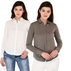 Shirts  Ravishing Polyester Shirt  *Fabric* Polyester  *Sleeves* Full Sleeves Are Included  *Size* S - 34 in, M - 36 in, L - 38 in, XL - 40 in  *Length* Up To 27 in  *Type* Stitched  *Description* It Has 2 Pieces Of Shirt  *Pattern* Solid  *Sizes Available* S, M, L, XL *   Catalog Rating: ★3.9 (334)  Catalog Name: Women's Aria Ravishing Polyester Solid Shirts Vol 1 CatalogID_174157 C79-SC1022 Code: 554-1352951-