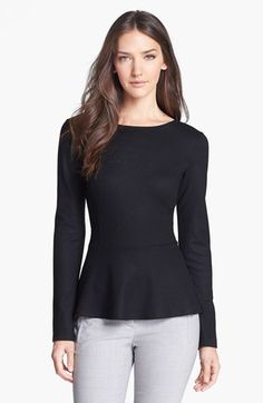 Theory 'Defta' Wool Top available at #Nordstrom  (As an alternative to a suit jacket, wear this with a black wool skirt--Theory, of course. jhughes2020)