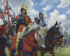 Richard III at the Battle of Bosworth