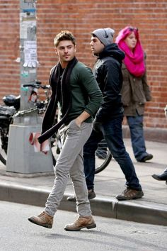 "films scenes for ""Are We Officially Dating?"" in New York City 12/20/12"