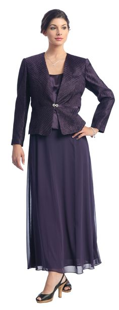 Plum Mother of the Bride Groom Dress With Jacket $168.99