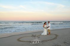 Wedding Heart on the Assateague Island State Park Beach by Rox Beach Weddings:  https://www.roxbeachweddings.com/