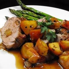 Apple Glazed Pork Tenderloin - a friend of mine said this was divine. She used apple juice instead of wine. Must try!