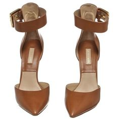 Pre-Owned Michael Kors Tan Leather Pointed Toe Ankle Strap Pumps (875 BRL) ❤ liked on Polyvore featuring shoes, pumps, heels, zapatos, neutral, michael kors shoes, tan shoes, michael kors pumps, tan pumps and pointy-toe pumps