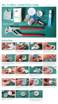 How to fabric covered button badge