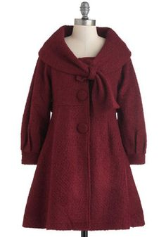 Best in the Burgh-undy Coat, #ModCloth