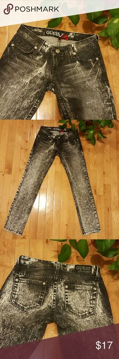 Guess Distressed Jeans Gorgeous Guess jeans that are in perfect condition! These are meant to be ankle length. Measurements: Waist: 24in Length: 34.5in Guess Jeans Skinny