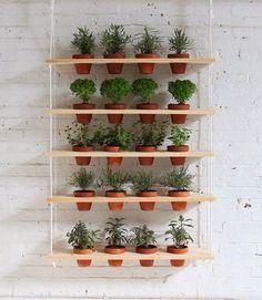 26 ไอเดียปลูกไม้กระถาง ในรูปแบบสวนแนวตั้ง จากโครงสร้างไม้ และของใกล้ตัว | NaiBann.com