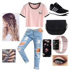 """😄😉"" by amcracea-1 ❤ liked on Polyvore featuring adidas and Sole Society"