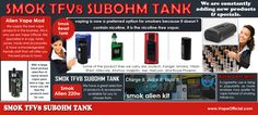 The newest flagship box mod by SMOK has a lot of unique features that will stand out from the rest of its competitors. Alien 220W kit is the combination of the infamous Baby Beast Tank and their new high-power mod with maximum output of 220W the Alien 220W mod. The design, features and performance are just outstanding.