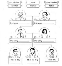 Family flashcards: sister, brother, dad, mum, grandma