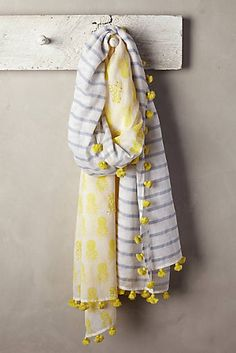 at anthropologie Tropic Stripe Scarf Duppata Style, Striped Scarves, Printed Scarves, Handmade Scarves, Summer Scarves, Clutch, Indian Designer Wear, Mellow Yellow, Indian Outfits