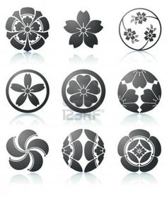 Vector illustration set of abstract Sakura graphic elements in japanese style - Stock Vector from the largest library of royalty-free images, ...