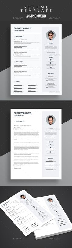 Resume & Cover Letter Template PSD, MS Word