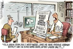Rubio Tickets © Rick McKee,The Augusta Chronicle,Marco, Rubio, traffic tickets, NYT, New York TImes, media bias