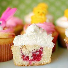 cuppies recipe - raspberry filled vanilla