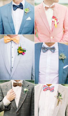 If it is important for the bride to wear the perfect dress, then so it is for the groom. Wedding bow ties ideas for groom and groomsmen - wedding trends