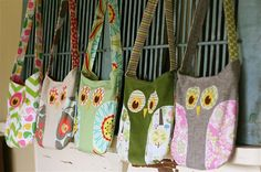Owl bag, with pattern. IT says for children but I totally want to make one for myself