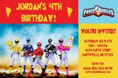 power ranger birthday invitations | Power Rangers Invitations - Personalized Printable Photo Invites