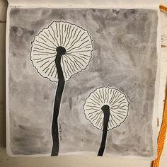 #Sketchbooking fun 31 DAYS OF MUSHROOMS day 22 Medium used: watercolors & ink #sketch #sketchbooks #sketchbook #art #experimenting #sketchbookart #create #watercolors #watercolor #paint #ink #color #illustration #design #creativity #imagination #mushrooms #mushroom #nature #fungi #black #gray