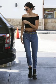 Out in Calabasas, California, getting gas. - ELLE.com
