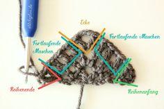 stitchydoo: Anleitung | Dreieckstuch mit Fransen häkeln
