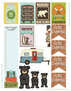 Free Camping Planner Stickers | Victoria Thatcher