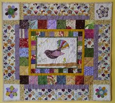 Fantail mini quilt by MezCat, via Flickr