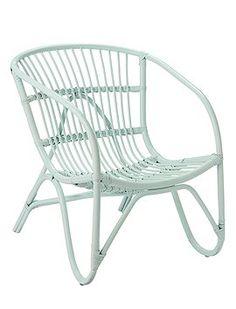 Rattansessel : Der schöne Klassiker jetzt in einer tollen Farbe! Der Sessel aus Rattangeflecht ist wunderbar bequem, von Bloomingville.