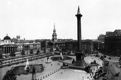 Trafalgar Square en el paso del siglo XIX al XX
