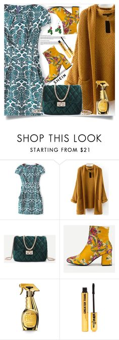"""""""shein 9"""" by amrafashion ❤ liked on Polyvore featuring Moschino and Nasty Gal"""