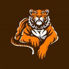Logo Sport, Sports Logo, Tiger Vector, Vector Art, Character Design Animation, Character Art, Mascot Design, Logo Design, Tiger Head Tattoo