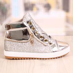Ghete Dama Blaxy Sidex Silver Cod: 879 Front Row, Cod, Louis Vuitton, Sneakers, Silver, Shoes, Fashion, Tennis, Moda