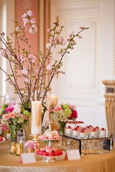 Pink and Green Wedding Dessert Table | photography by http://www.ashleybartoletti.com/