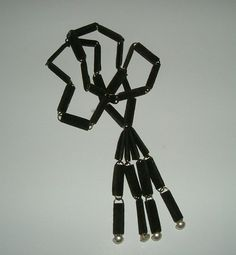 Vintage Paper Clip Necklace Arts and Crafts by ChocolateRoseMint
