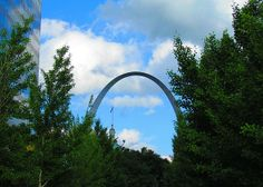 View of the Arch from the City Gardens in St Louis