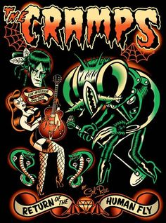 The Cramps by Sol-Rac https://www.facebook.com/pages/Sol-Rac-Wild-Rockin-ArtWork/135499139832858